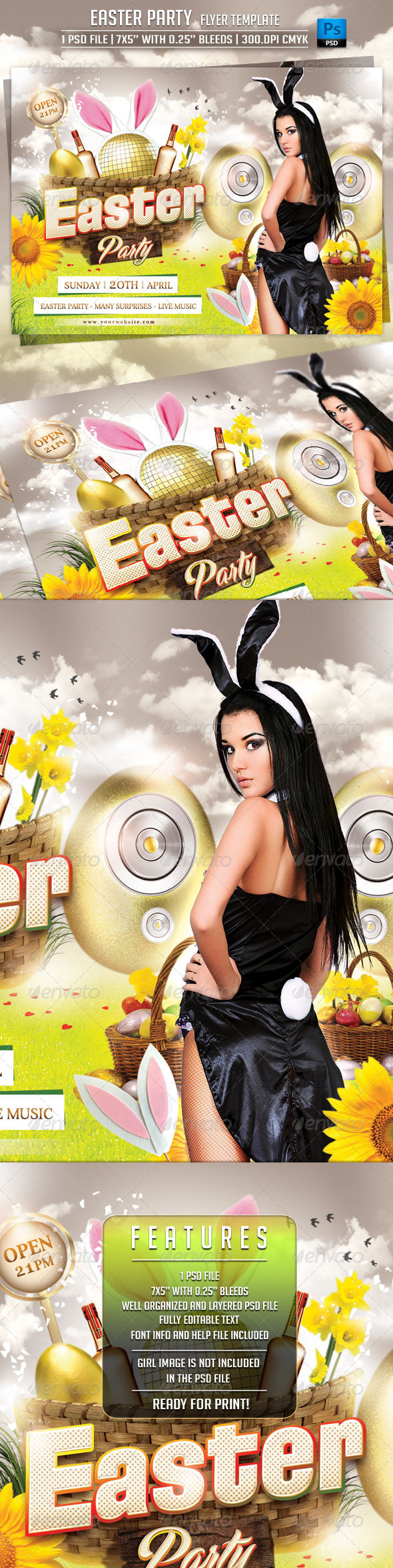 GraphicRiver Easter Party Flyer Template 6964933