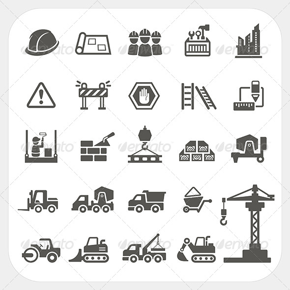 GraphicRiver Construction Icons Set 6964935