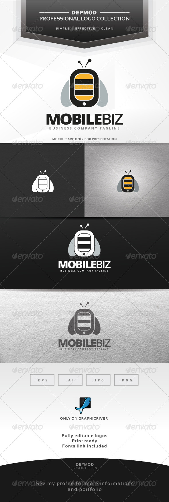 GraphicRiver Mobile Biz Logo 6964960