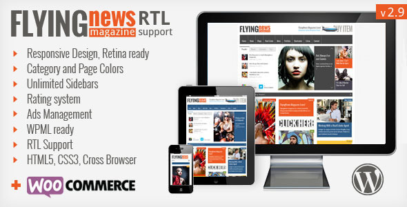 FlyingNews - Responsive Wordpress Magazine - Blog / Magazine WordPress