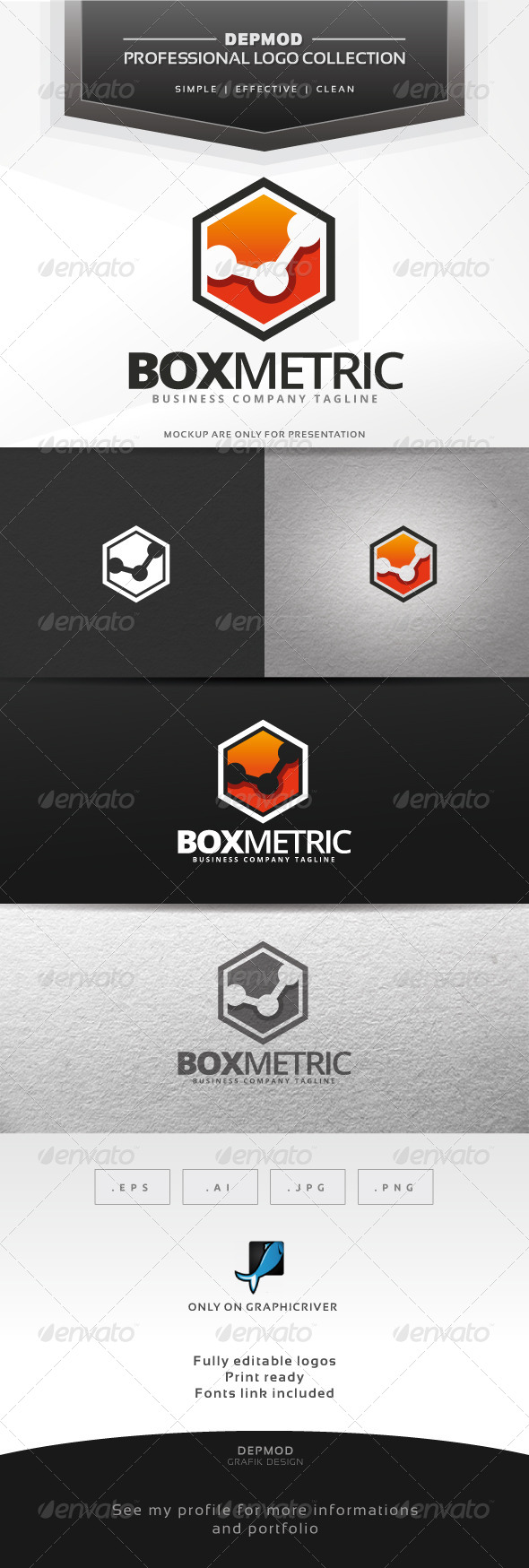 GraphicRiver Box Metric Logo 6965003
