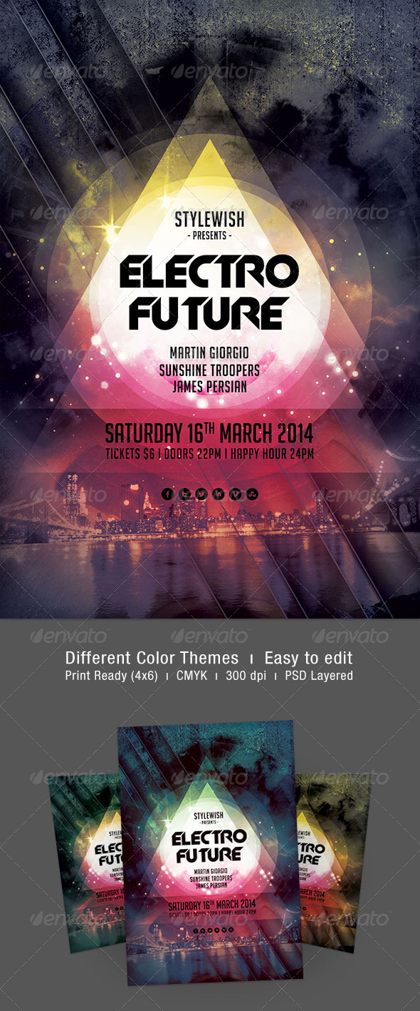 Electro Future Flyer - Clubs & Parties Events