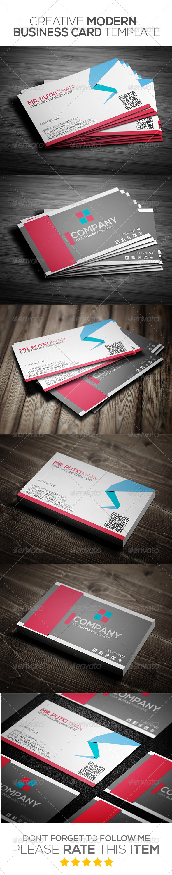 GraphicRiver Creative Modern Business Card Template 6965111