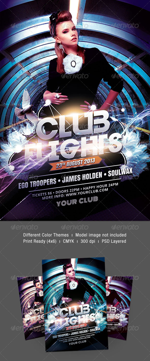Club Flights Flyer - Clubs & Parties Events