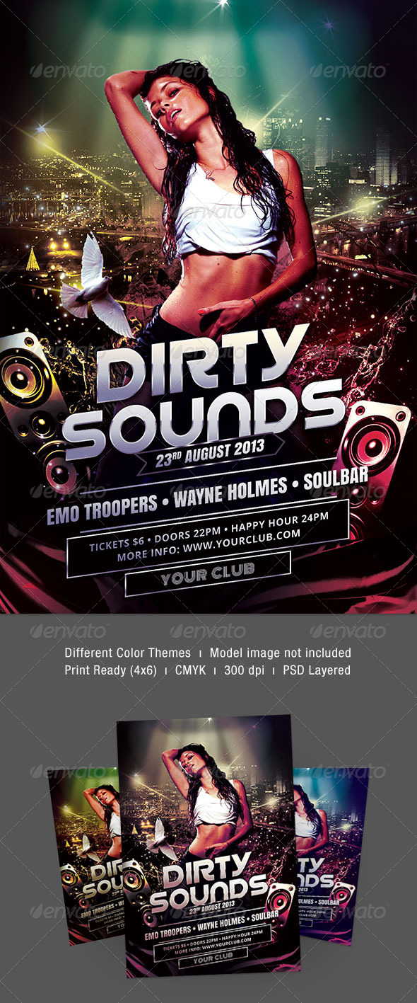 Dirty Sounds Flyer - Clubs & Parties Events