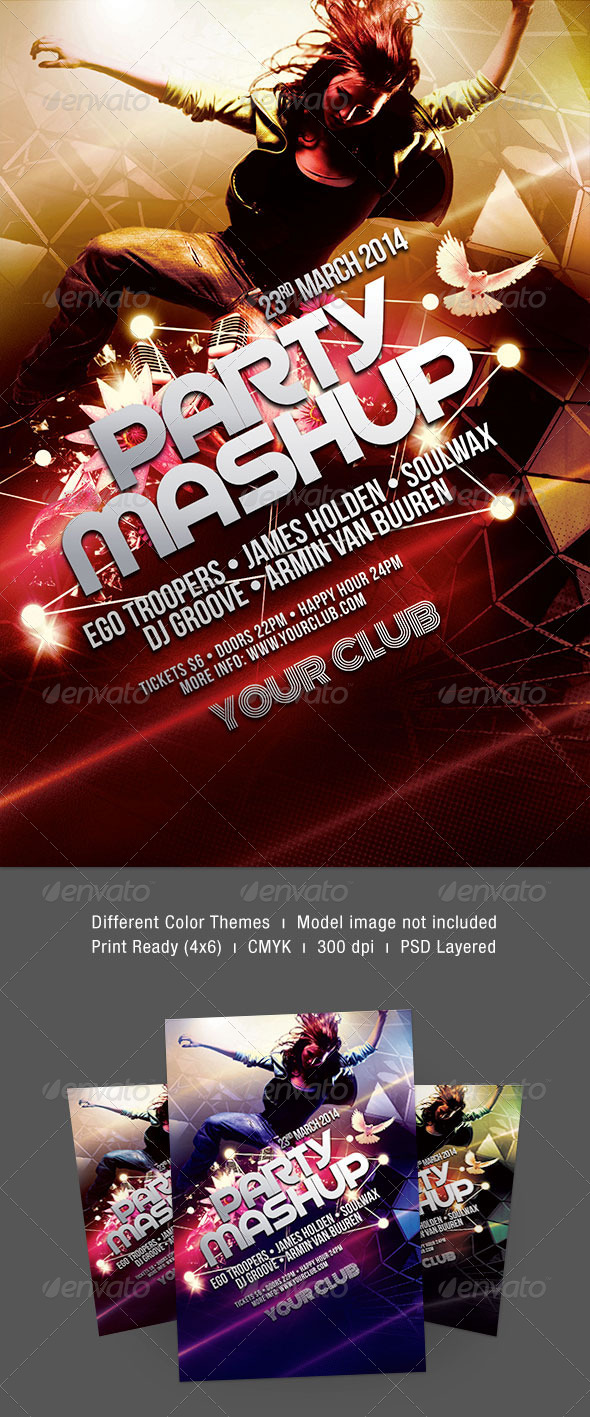 Party Mashup Flyer - Clubs & Parties Events