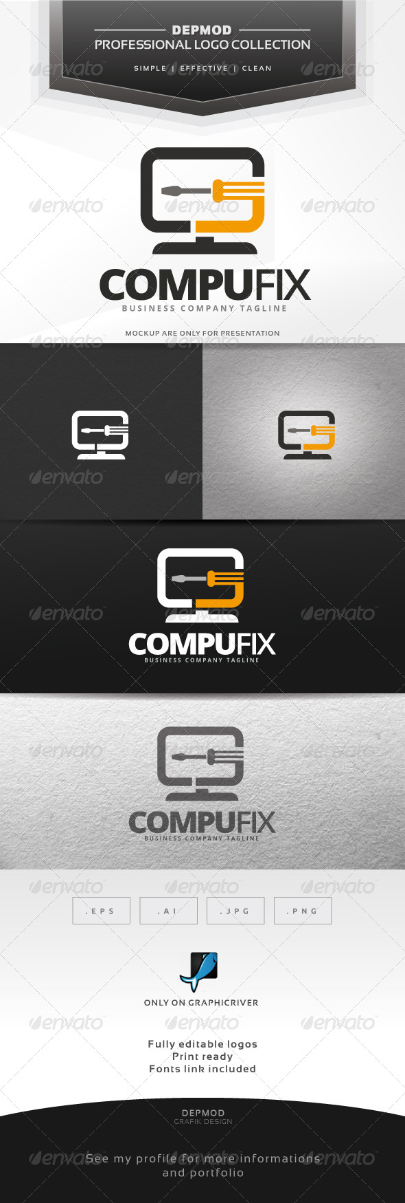 GraphicRiver Compu Fix Logo 6965372
