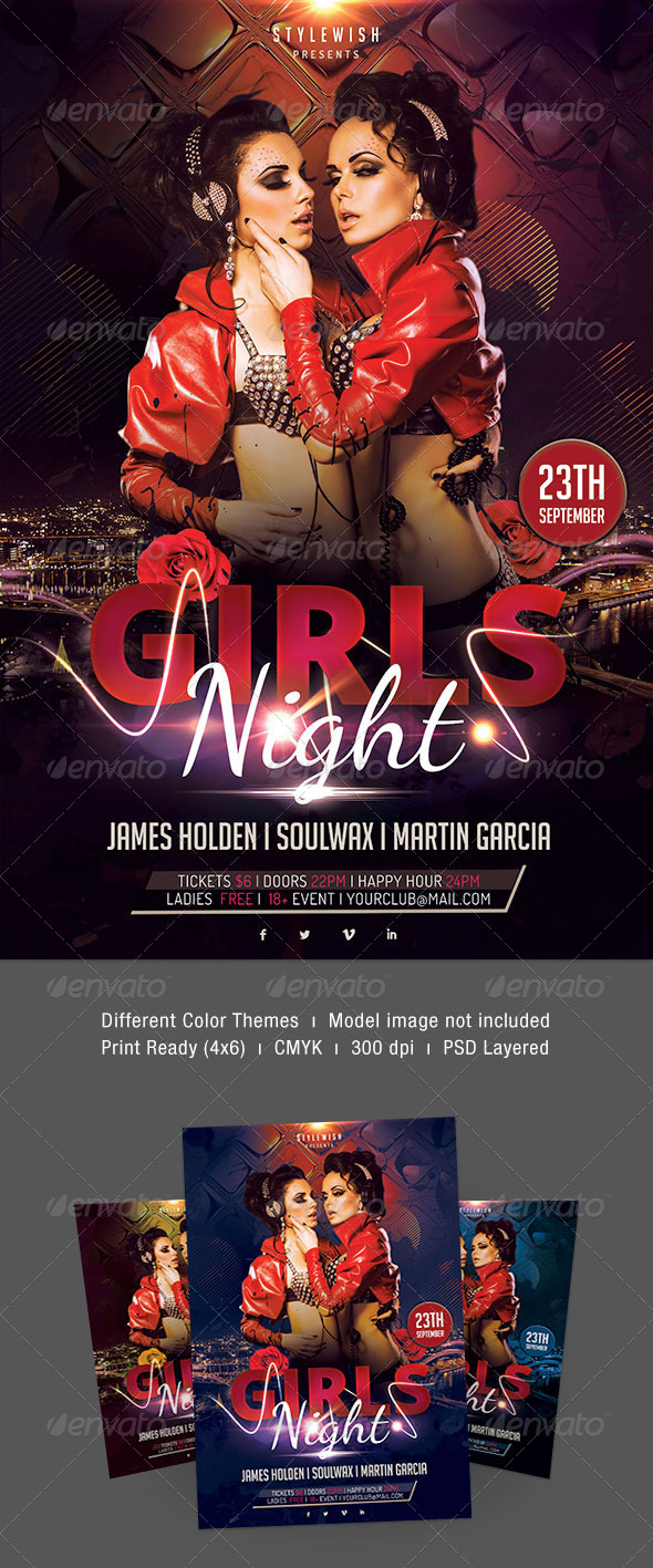 Girls Night Flyer - Clubs & Parties Events