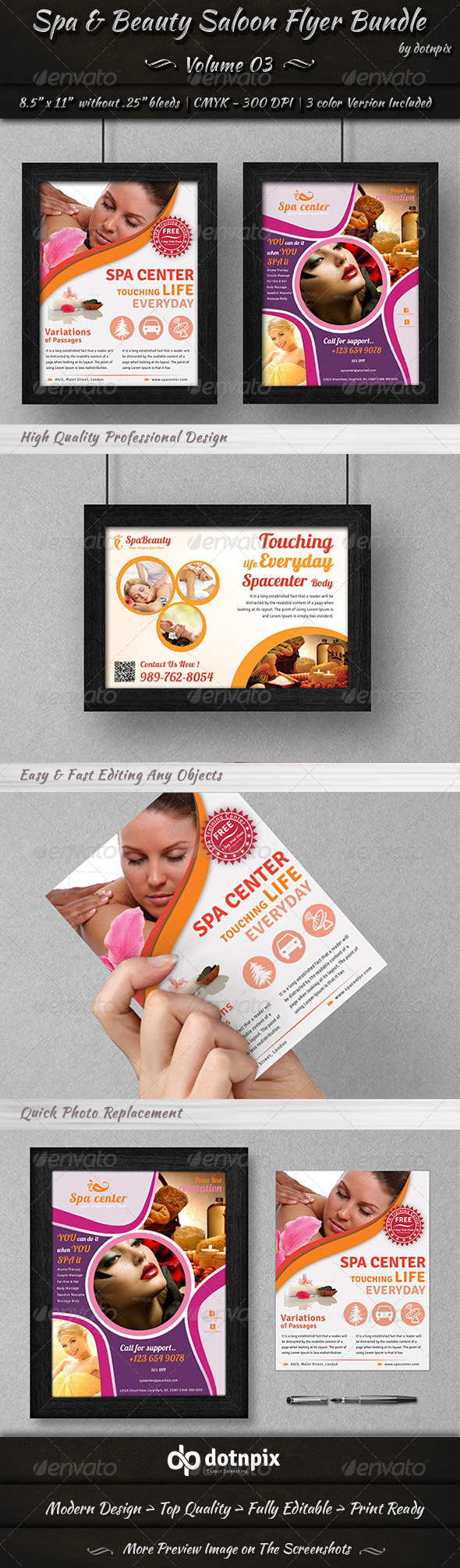GraphicRiver Spa & Beauty Saloon Flyer Bundle Volume 3 6965529