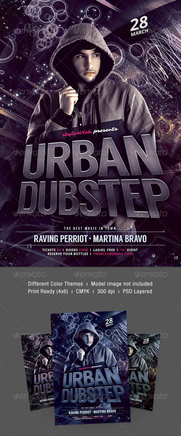 Urban Dubstep Flyer - Clubs & Parties Events