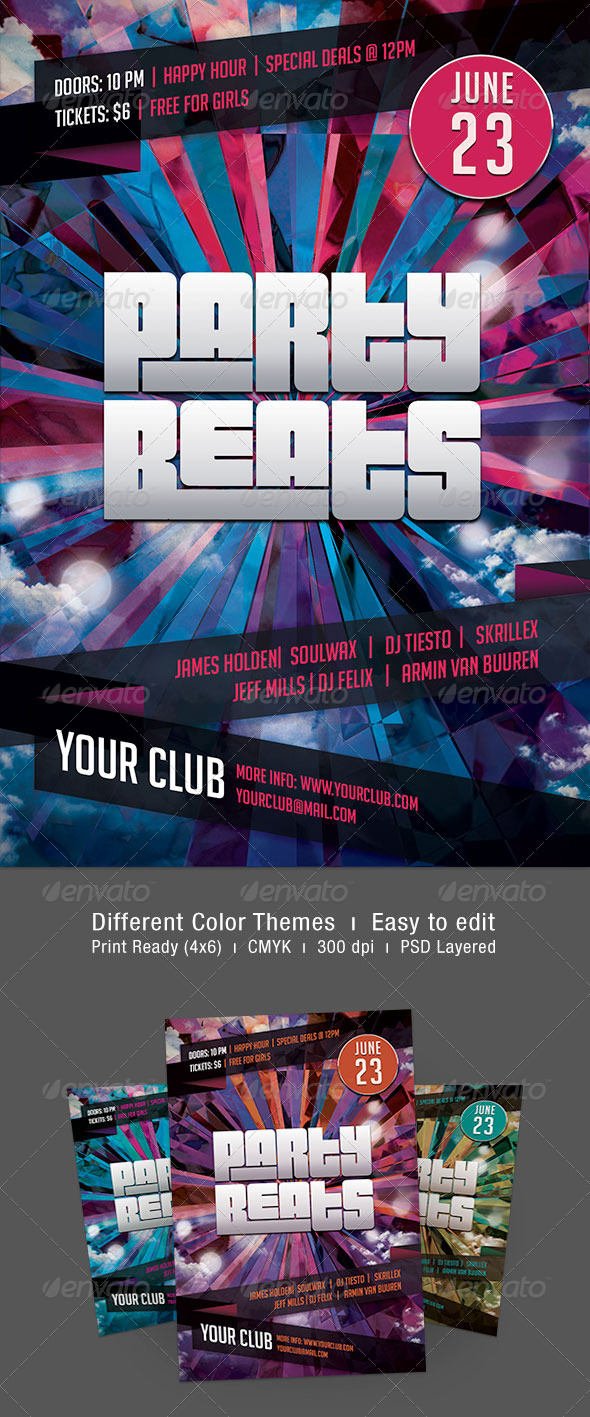 Party Beats Flyer - Clubs & Parties Events