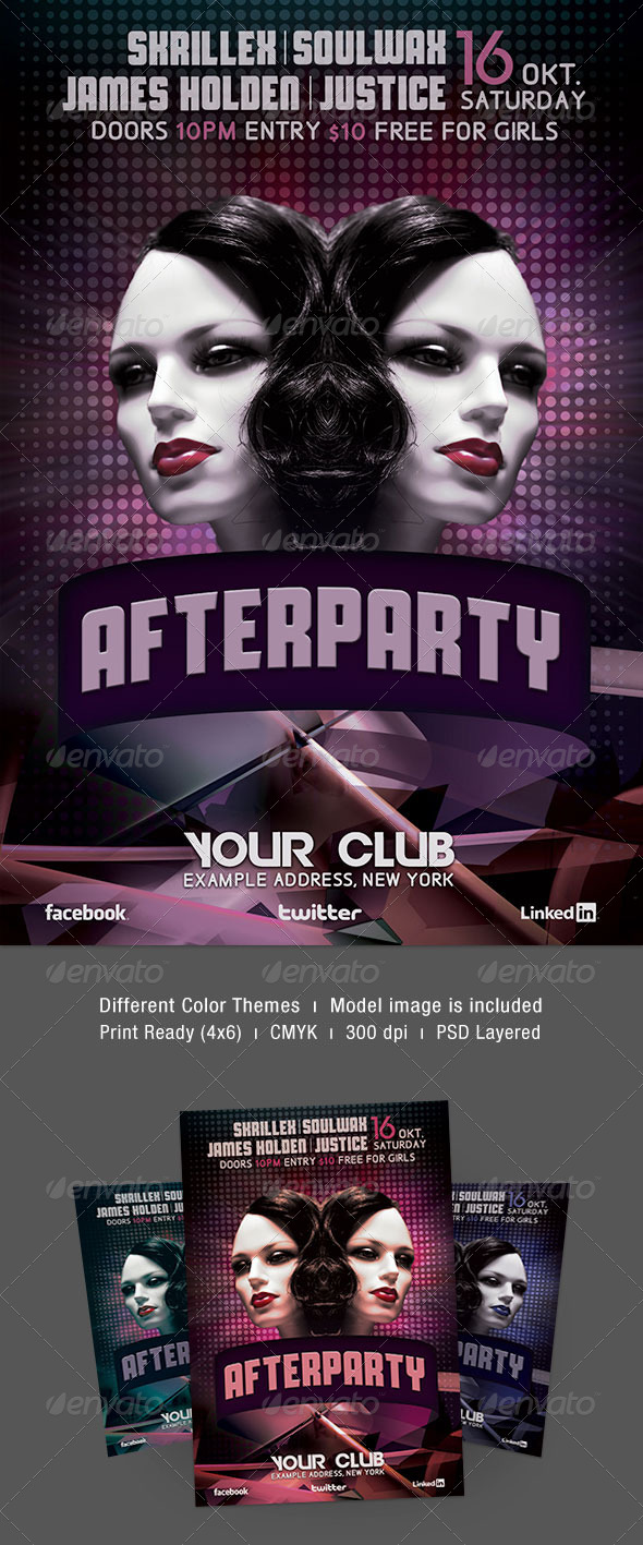 Afterparty Flyer - Clubs & Parties Events