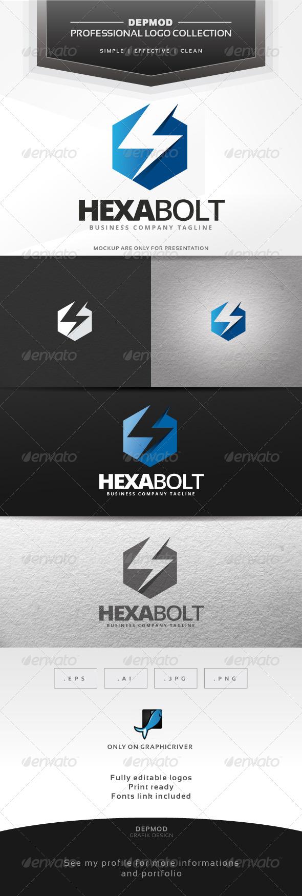 GraphicRiver Hexa Bolt Logo 6965813