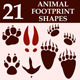 Animal Footprint Custom Shapes - GraphicRiver Item for Sale
