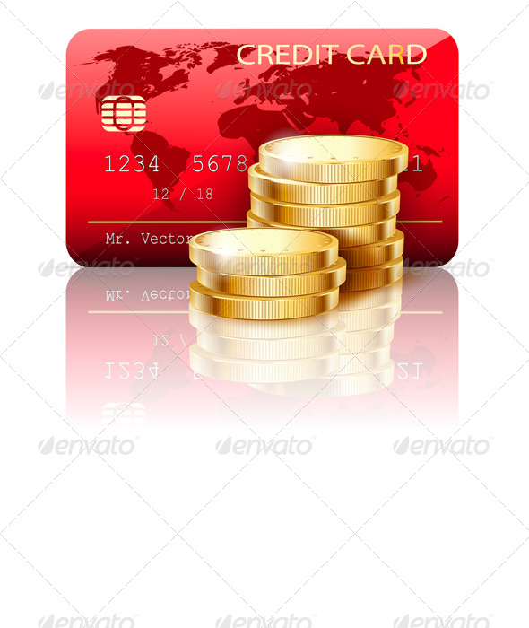 GraphicRiver Credit Card and Coins 6966141