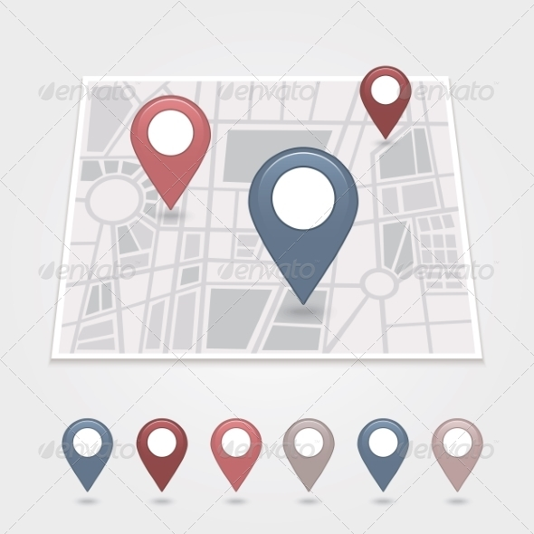 GraphicRiver Mapping Pins Icon 6966979