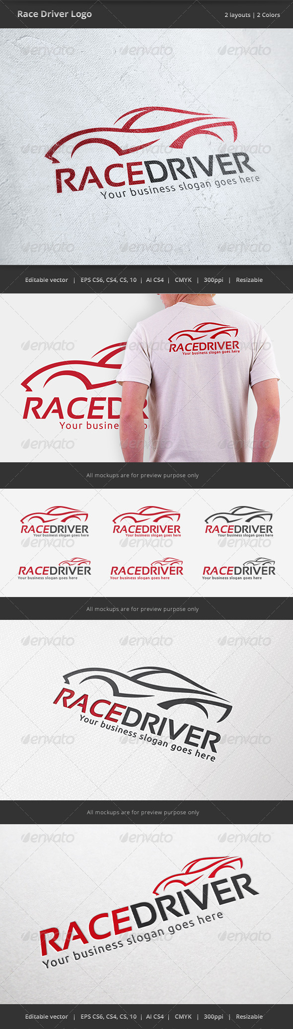 GraphicRiver Race Car Driver Logo 6968065
