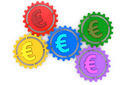 colored gears and euro sign - PhotoDune Item for Sale
