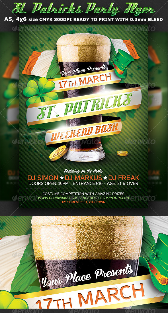 GraphicRiver St Patricks Flyer Template 6968272