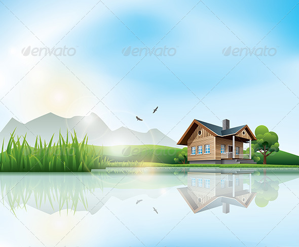 GraphicRiver House at the Lake 6968564