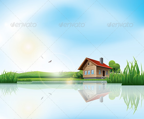 GraphicRiver House at the Lake 6968575