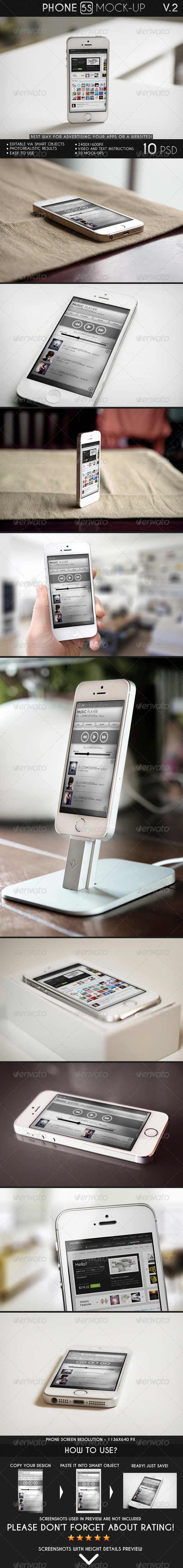 GraphicRiver Phone 5S Mock-Up 6969592