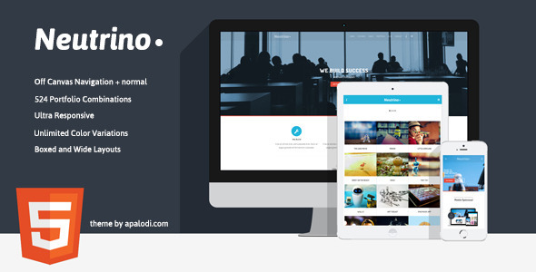 Neutrino - Multi-Purpose HTML Template - Creative Site Templates