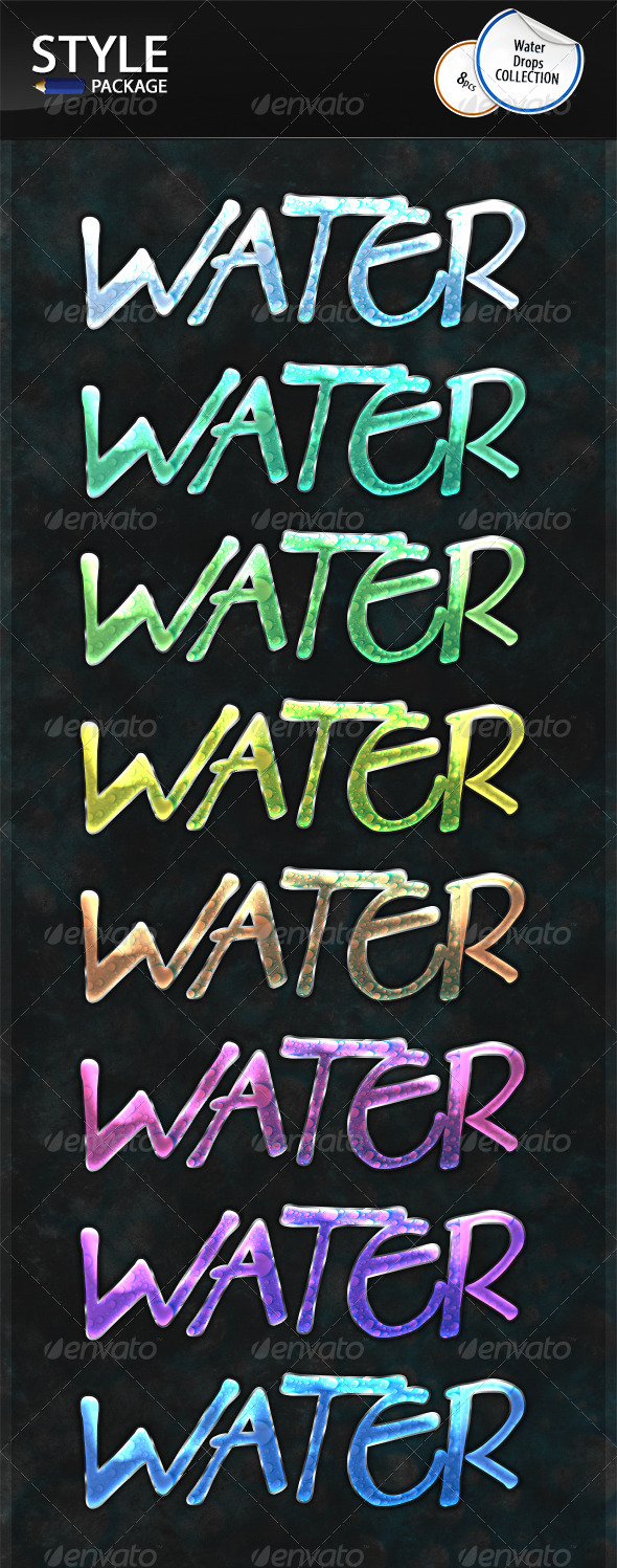 GraphicRiver Water Drops Styles 6970015