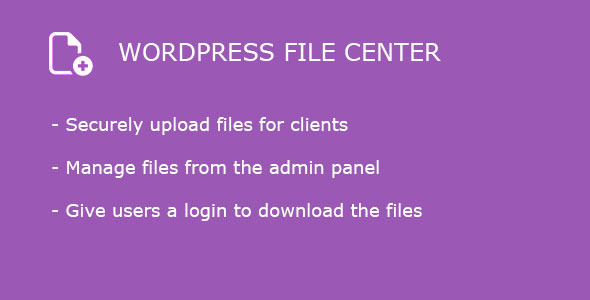 Wordpress File Center - CodeCanyon Item for Sale