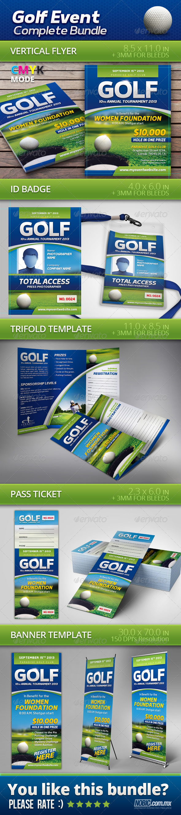 GraphicRiver Golf Event Complete Bundle 6971678