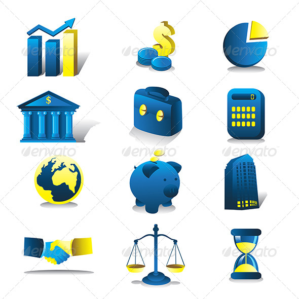GraphicRiver Finance Icons 6971789