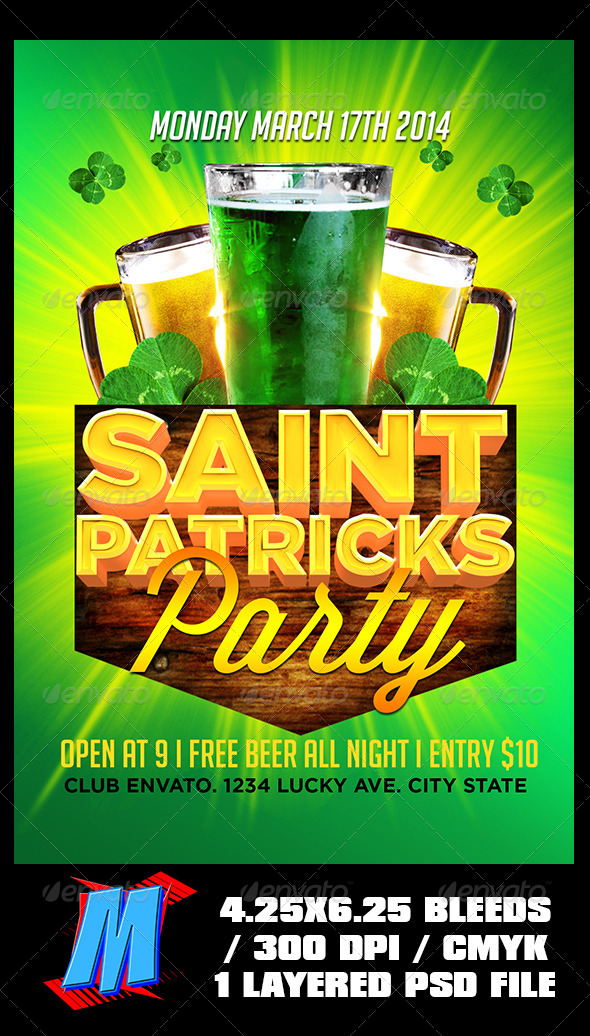 GraphicRiver Saint Patricks Party Flyer Template 6971841