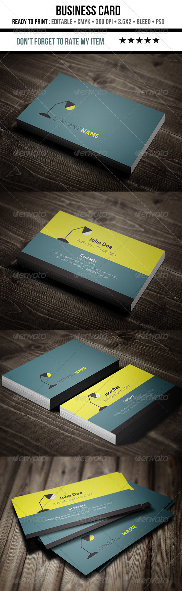 GraphicRiver Flat Minimalist and Creative Business Card 6971867