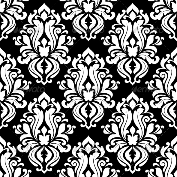 GraphicRiver Retro Black and White Seamless Pattern 6971875