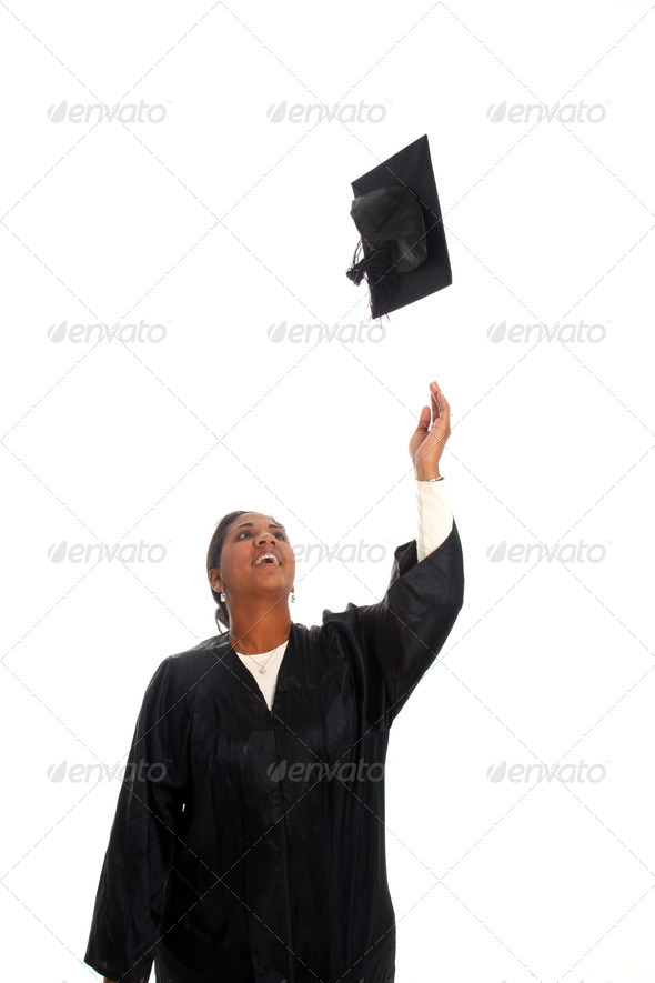 Woman Graduating - Stock Photo - Images