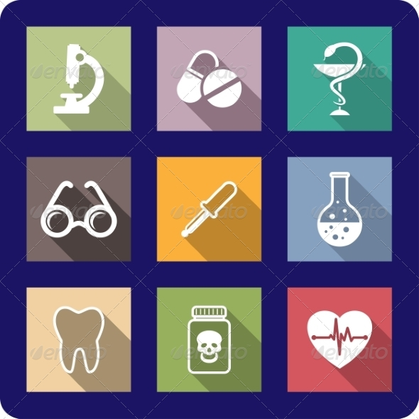 GraphicRiver Flat Medical and Healthcare Icons 6972951