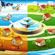 Village in Four Season - GraphicRiver Item for Sale