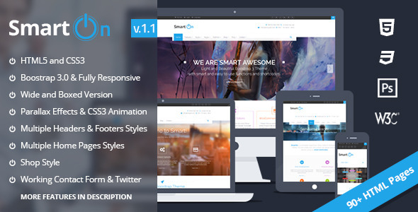 SmartOn - Ultimate Boostrap HTML5 Responsive Theme - Corporate Site Templates