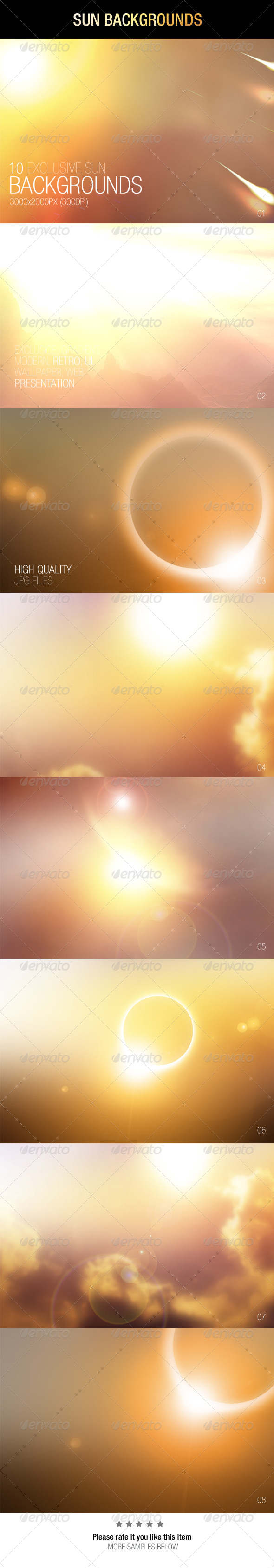 GraphicRiver Sun Backgrounds 6973251