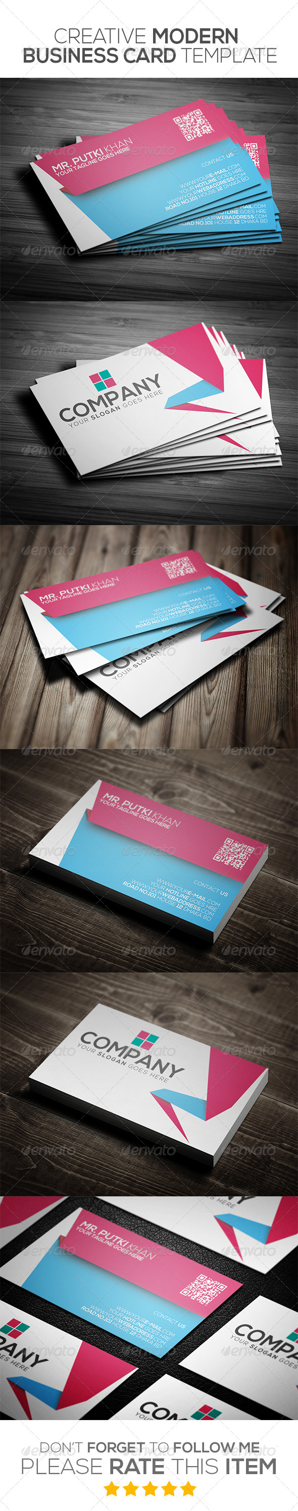 GraphicRiver Creative Modern Business Card Template 6973580