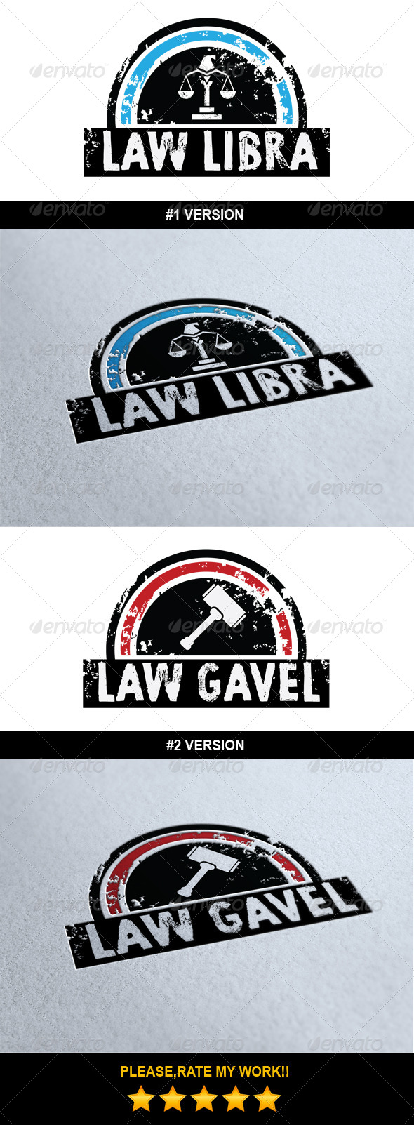 GraphicRiver Law Logo Template 6975057