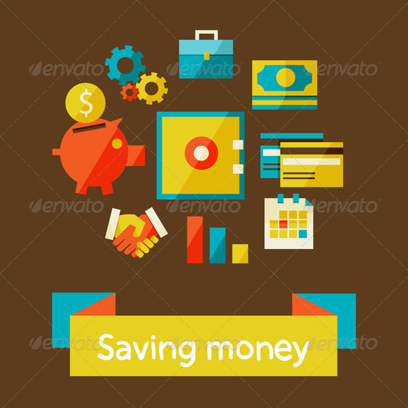 GraphicRiver Piggy Bank Saving Money 6976013