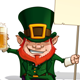 St. Patrick Holding a Placard - GraphicRiver Item for Sale