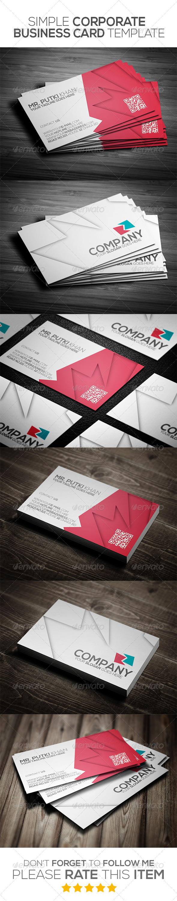 GraphicRiver Simple Corporate Business Card Template 6976998
