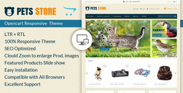 ThemeForest Pet Store Opencart Responsive Theme 6977052