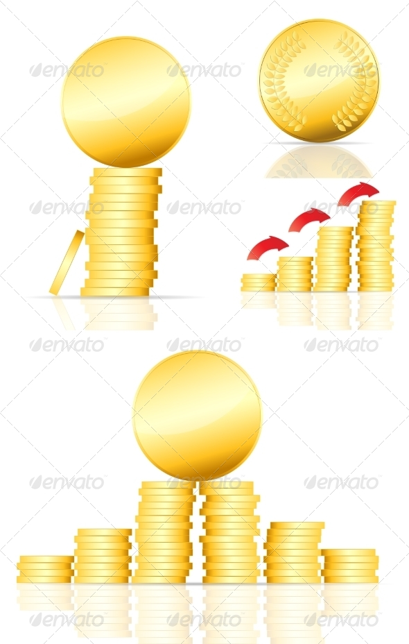 GraphicRiver Gold Coins 6977550