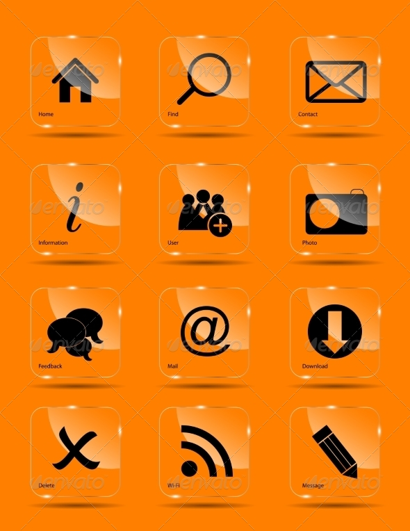 GraphicRiver Vector Icon Set for Web 6977562