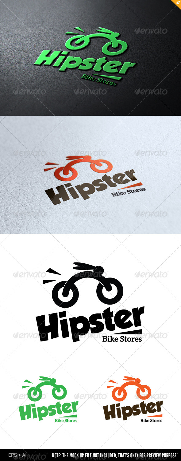 GraphicRiver Hipster Bike Stores 6977724