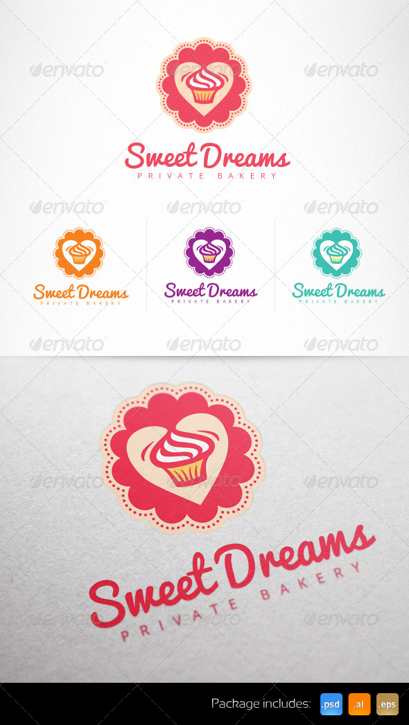 GraphicRiver Cupcake Confectionery Sweet Shop Logo 6977759