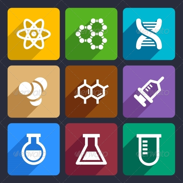 GraphicRiver Chemical Flat Icons Set 50 6977764
